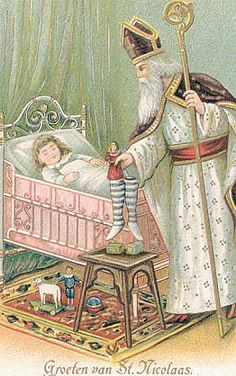 """""""St. Nicholas"""" Antique Postcard."""