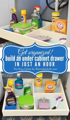 Easy and budget-friendly slide-out under cabinet storage drawers -- under an hour to build!
