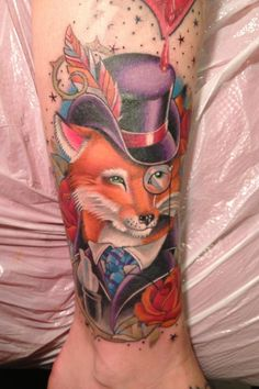 My sophisticated fox tattoo by Scott Junkins in Carlisle PA