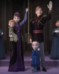 Anyone else notice that Anna has her moms smile, and Elsa has her dads Anna Und Elsa, Frozen Elsa And Anna, Disney Frozen Elsa, Olaf Frozen, Frozen Snow, Frozen Art, Cute Disney, Disney Art, Disney Movies