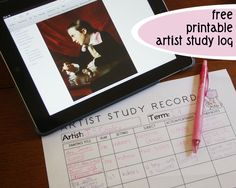 free-printable-artist-log from Jimmie's Collage! Awesome!