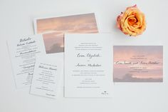 Pastoral Perfection: We love using #custom #photograph envelope liners for one-of-a-kind suites! By #magnificentmilestones - Photography by Amanda Hein Photography
