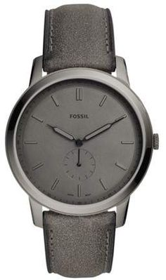341c31c0dde8 Fossil The Minimalist Two-Hand Gray Leather Watch Jewelry