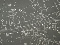Here is a new shot detailed shot of Dublin city in a Bloomsday map.