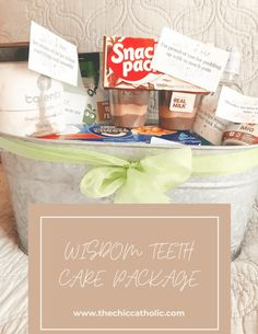 Teeth Surgery, Surgery Gift, Oral Surgery, Food After Wisdom Teeth, After Wisdom Teeth Removal, Boyfriend Care Package, Boyfriend Gifts, Getting Wisdom Teeth Pulled, Tooth Pulled