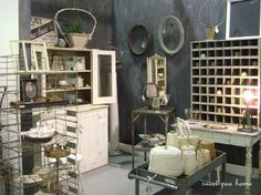 I so love Shelley's style with the awesome industrials! The chalkboard walls look soo great, I need one!