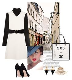 """""""Untitled #248"""" by alennad ❤ liked on Polyvore featuring мода, Chanel, Theory, MANGO и Vita Fede"""