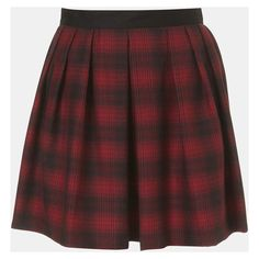 Topshop Plaid Skater Skirt Red 6 ($20) ❤ liked on Polyvore featuring skirts, bottoms, saias, faldas, women, preppy skirts, red flared skirt, red knee length skirt, red skater skirt and red circle skirt