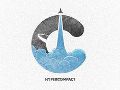 Hypercompact Emblem - Logo Iteration 2  by Morgan Allan Knutson