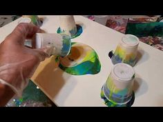 Acrylic Pour Painting with many contrasting cells - YouTube