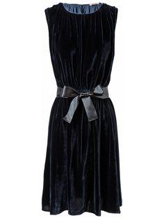 Tomas Maier - Draped Velvet Dress