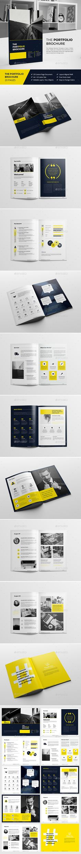 Haweya Portfolio Brochure Template InDesign INDD. Download here: https://graphicriver.net/item/haweya-portfolio-brochure-v02/16940079?ref=ksioks