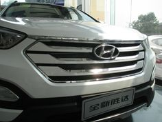 Chrome Hood Garnish + Front Grille Around Trim For 2013 2014 Hyundai Santa Fe IX45-in Chromium Styling from Automobiles & Motorcycles on Aliexpress.com | Alibaba Group