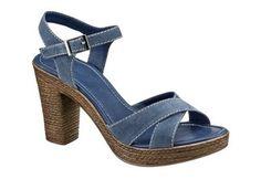 Sandalette von City Walk Walking, Platform, Denim, Sandals, City, Heels, Fashion, Heel, Moda