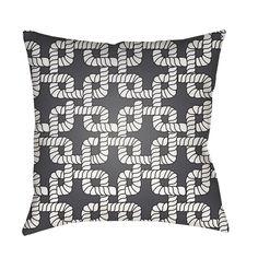 Knot Grey Outdoor Pillow