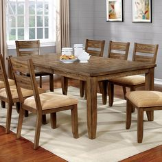 Furniture of America Merina Country Style Expandable 78-inch Dining Table - Free Shipping Today - Overstock.com - 19201974 - Mobile