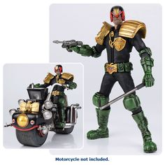 BLOG DOS BRINQUEDOS: 2000 AD Judge Dredd 1:12 Scale Action Figure