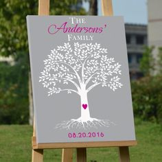 Buy Buythrow Tree Wedding Guest Book Ideas Alternative Personalized canva Guestbook at Walmart.com
