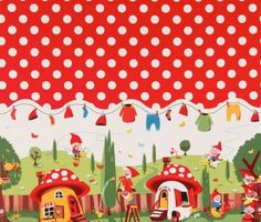 gnomeville fabric by michael miller