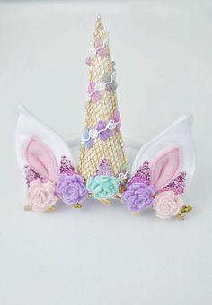 unicorn horn - unicorn headband - unicorn party - unicorn birthday - unicorn costume - baby unicorn outfit - unicorn cake smash by LittleNestMarket on Etsy https://www.etsy.com/listing/540128285/unicorn-horn-unicorn-headband-unicorn
