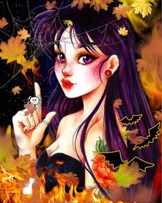 Sailor Moon Halloween, Sailor Moon Crystal, Sailor Mars, Cosmos, Anime, Queen, Art, Sweet, Art Background