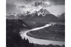 The Tetons and the Snake River, Grand Teton National Park, Wyoming, 1942; Collection Center for Creative Photography, The University of Arizona; Photograph by Ansel Adams.