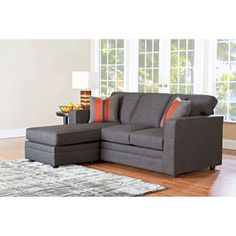 "Beeson Fabric Queen Sleeper Chaise Sofa - 20"" seat height - those with TKR - this sofa is for you!"