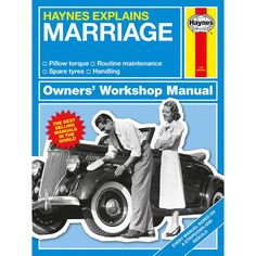 Haynes Explains Marriage - Owners Workshop Manual Written by bestselling author Boris Starling, Marriage is one of the first titles in the brand new Haynes Explains series. A light-hearted and entertaining take on the classic workshop manual, it cont http://www.MightGet.com/january-2017-13/haynes-explains-marriage--owners-workshop-manual.asp