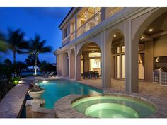 Waterfront home overlooking Doctor's Bay in Naples, FL.
