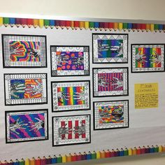 3rd grade finished LINE unit! We loved zentangles!!!!