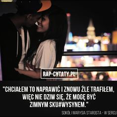 #rapcytatyofficial #rapcytaty #hiphopcytaty #cytaty #cytat #rap #hiphop #polskirap #polskihiphop #tylkorap #jednamiłość #cytatyrap… Rap, Texts, Wicked, Hip Hop, Songs, Quotes, Fictional Characters, Instagram, Quotations