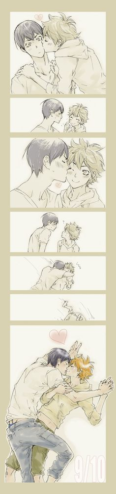 "Read manga online! - ReadManga.me---  ""Chu~ Kageyama! Kiss me too~"" They're too cute~  Haikyuu!! :: Kageyama x Hinata"