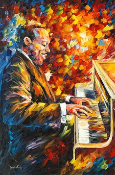 Jazz oil painting by leonid Afremov by Leonidafremov on DeviantArt Music Artwork, Art Music, Musik Illustration, Count Basie, Frida Art, Jazz Art, Wow Art, Oil Painting On Canvas, Painting Art