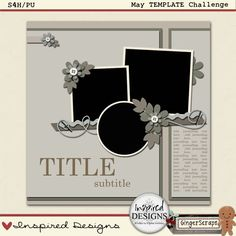 Free Digital Scrapbook Template by Inspired Designs