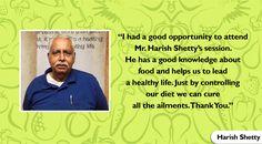 Thank you for your appreciation. Keep following the diet. #HarishShetty #TuesdayTestimonial