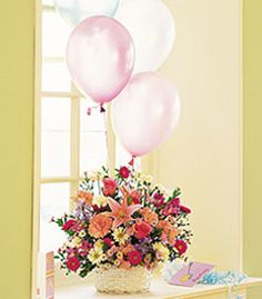 send pink birthday flowers and balloons to canada