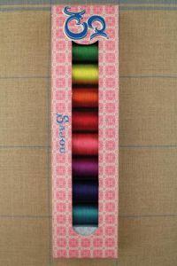 Sajou-Box acht Spulen Sortiment 1 Seidengarn Fil Au Chinois