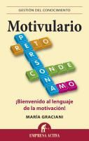 ISBN:9788492452927 Motivulario : ¡bienvenido al lenguaje de la motivación! by Graciani, María... 09/06/2016