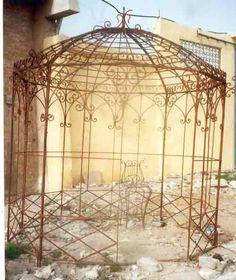 vintage metal arbor | wrought iron gazebos - garden metal gazebo