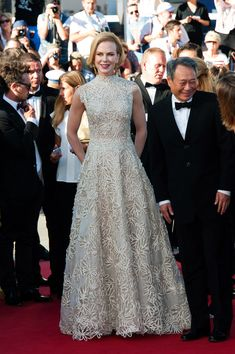 Nicole Kidman and Ang Lee attend the 'Nebraska' premiere during The 66th Annual Cannes Film Festival at the Palais des Festivals.