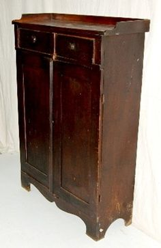 Great Antique 2 Door Country Jelly Cupboard : Lot 121A