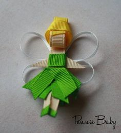 Tinkerbell Ribbon Sculpture by PennieBabyBoutique on Etsy, $4.00