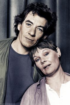 Sir Ian McKellen and Dame Judi Dench, 1985?