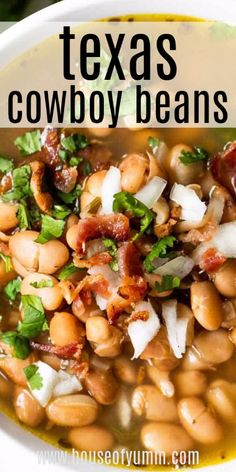 A Tex Mex favorite these pinto beans are tender and simmered in a flavorful bean broth seasoned with onion garlic and bacon. Jalapeño adds just a touch of heat. This Mexican bean soup is the perfect side dish for any meal! Taco Side Dishes, Mexican Side Dishes, Vegetable Side Dishes, Side Dish Recipes, Vegetable Recipes, Food Dishes, Soup Recipes, Cooking Recipes, Healthy Recipes