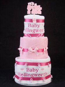 A personal favourite from my Etsy shop https://www.etsy.com/uk/listing/264955459/stunning-3-tier-personalised-new-baby