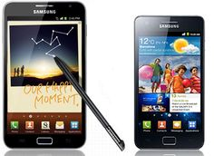 Galaxy Note vs. Galaxy S2..........only Samsung,