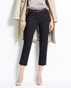 Curvy Cotton Sateen Cropped Pants