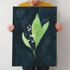 """COURAGE TO REMEMBER   lily of the valley 1"" - Art Print by Renee Anne in beautiful frame options and a variety of sizes."