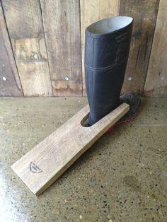 boot puller made from reclaimed australian hardwood