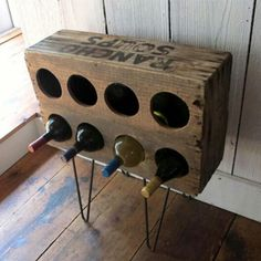 Madera usada…¡una buena idea para crear tu primer vinoteca!